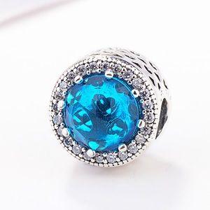 Pandora Sky Blue radiant heart charm